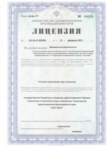 Лицензия на осуществление медицинской деятельности, стр.1