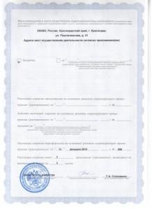 Лицензия на осуществление медицинской деятельности, стр.2