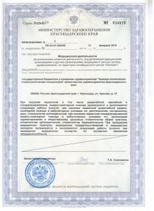 Приложение к лицензии на осуществление медицинской деятельности, стр.2